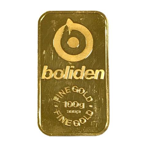 Boliden 100 Gram Guldtacka Skarab 233 Mynt Amp Guld Ab